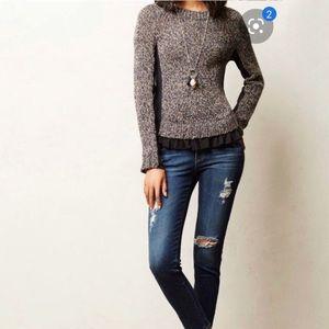Anthropologie Apsara Wool Knit Sweater Medium